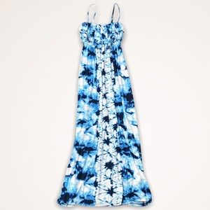 STYLE & CO Tie Dye Ruffle Maxi Dress